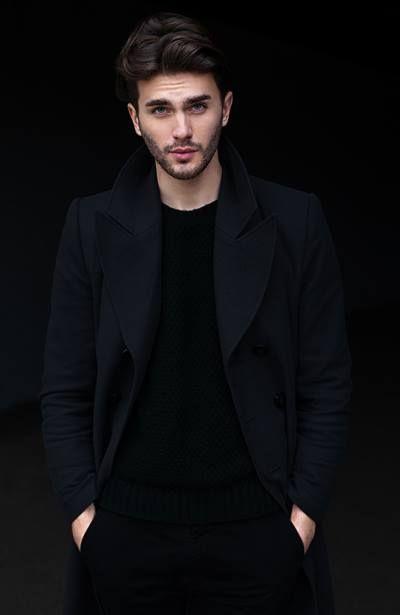 czarny płaszcz męski - widok