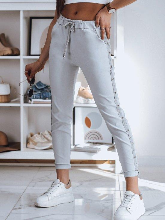 modne spodnie dresowe damskie białe